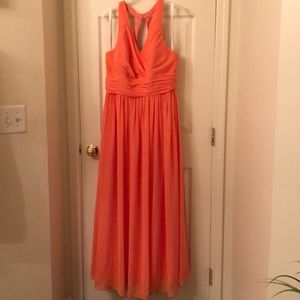 Azazie Bridesmaid Dress tangerine
